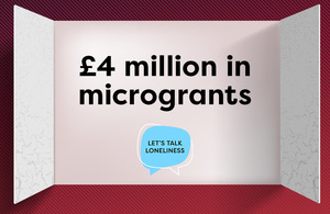 An advent calendar window that says four million pounds in microgrants