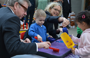 Michael Gove meets children