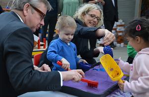 Michael Gove meets children