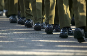 Soldiers on parade (stock image) [Picture: Graeme Main, Crown copyright]