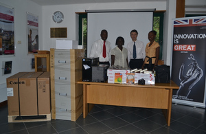 British High Commission donates office equipment to EOCO