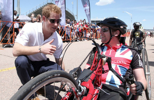 Prince Harry at the Warrior Games in Colorado