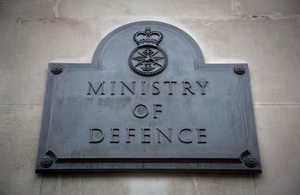 Image depicts the facade of MOD Main Building in London.