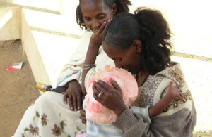 Ethiopia: Preventing HIV in newborns - Fatuma Nuru on her first visit to a health clinic for prenatal care. Picture: IntraHealth International Ethiopia