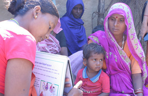 Nepal: Women receiving maternal health care training.  Picture: Ben Barber/USAID