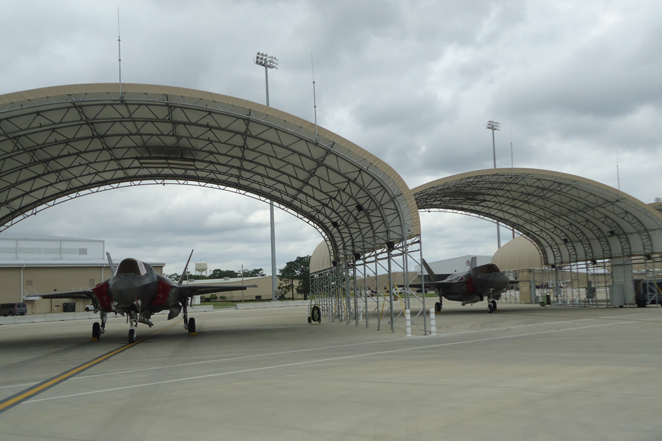 The UK's 2 Lightning II aircraft at Eglin Air Force Base in Florida
