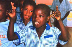 The Gambia: School children. Picture: Government of The Gambia