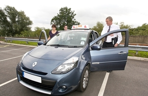 Learner driver starting their driving test