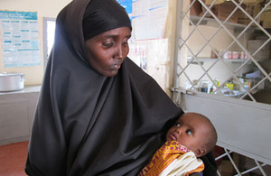 A mother holding her baby. Picture: David Orr/WFP
