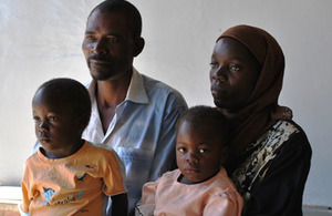 The Magadi family. Picture: Julianne Guariglia/Clinton Health Access Initiative (CHAI)