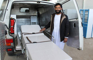 Naser Ahmad Saber's company makes hospital furniture. Picture: DFID