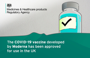 The COVID-19 vaccine developed by Moderna has been approved for us in the UK