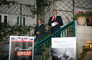 British Ambassador to Jordan Peter Millett and Paolo De Renzis, BA Area Commercial Manager for the Middle East and Central Asia