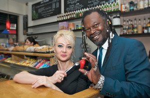 Levi Roots in the New Enterprise Allowance scheme campaign