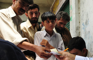 Saqlain, 14 years old, at a Save the Children centre in Swat, Pakistan. Picture: Save the Children