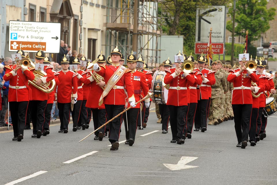 Soldiers parade through Whitehaven