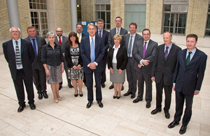 Defence Secretary Philip Hammond with recipients of the Civilian Service Medal (Afghanistan) at MOD Main Building in London [Picture: Harland Quarrington, Crown copyright]