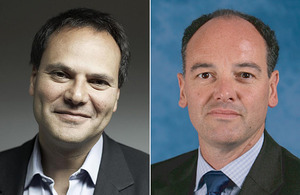 New Non-Executive Directors: Eric Salama (left) and Tim Robinson (right)