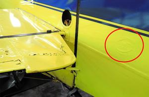 G-ODDS - Elevator and rudder damage