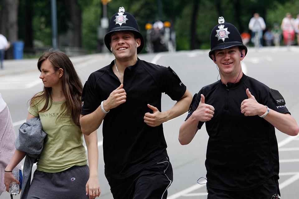 Two Essex Police officers run the half marathon.