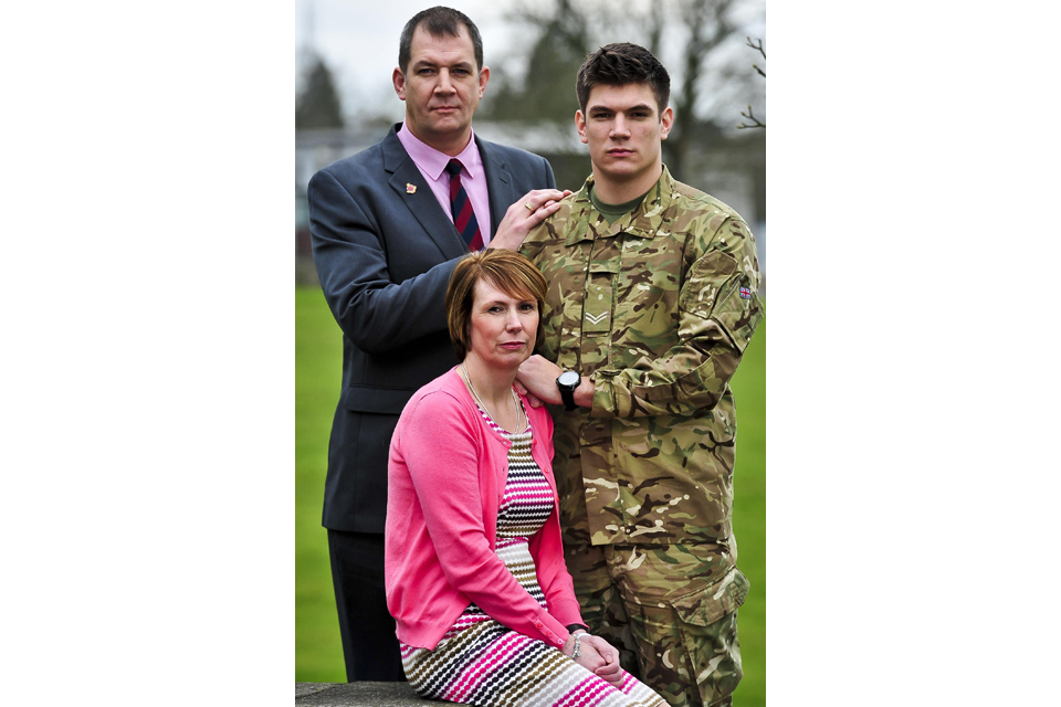 The family of Lance Corporal James Ashworth