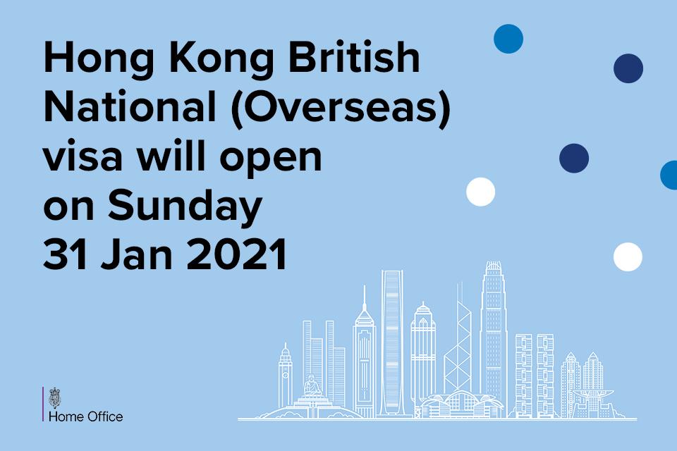 Hong Kong BN(O) visa will open on Sunday 31st January