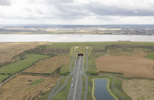 The proposed northern tunnel entrance to the Lower Thames Crossing