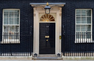The front door of Number 10 Downing Street