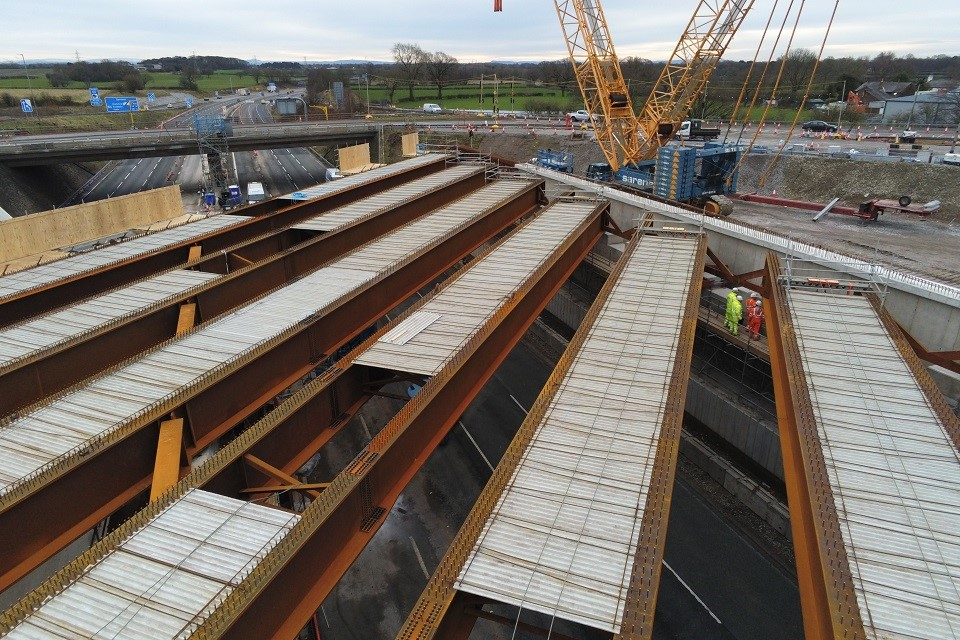 Bridge beams for the M6 junction 19 project