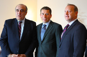 Minister of Tourism Fadi Abboud, British Ambassador Tom Fletcher, Paolo De Renzis - Area Commercial Manager for the Middle East and Central Asia, Paul Khawaja head of UKTI