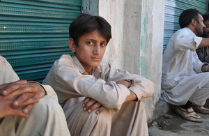 Nadeem, aged 13, a victim of the flooding in Pakistan. Photo copyright: Save the Children