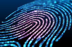 A photo of a multicoloured fingerprint