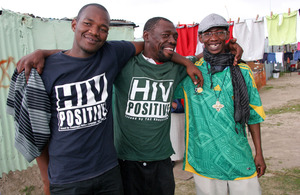Malwande, Thobela and Jack volunteer with Treatment Action Campaign's HIV literacy programme in Khayelitsha, Cape Town's largest township. Picture: Craig Connellan/DFID