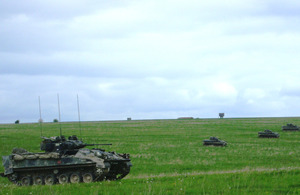 Armoured manoeuvres on Salisbury Plain Training Area during Exercise Lion Strike [Picture: Crown copyright]