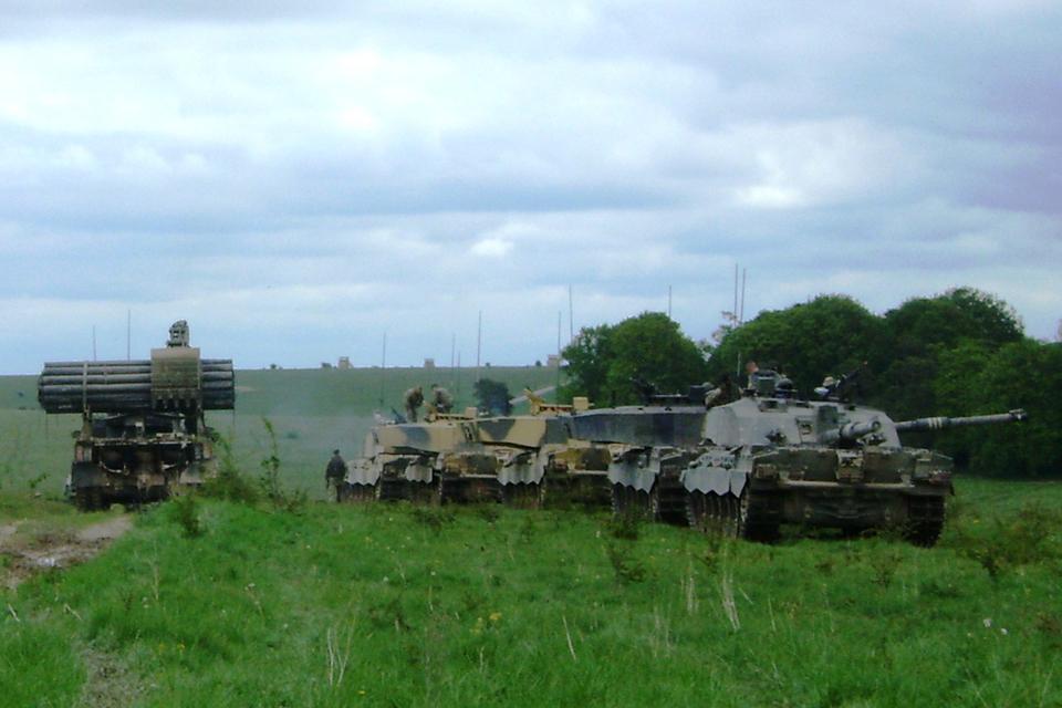Armoured manoeuvres on Salisbury Plain Training Area