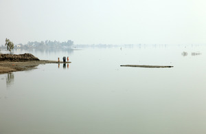 Vast areas of Pakistan's Sindh province submerged under water in 2010. Picture: DFID/Russell Watkins