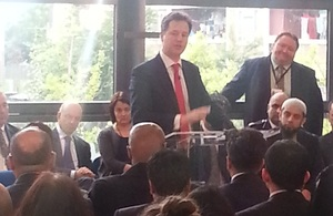 Deputy Prime Minister speaks at community event in London