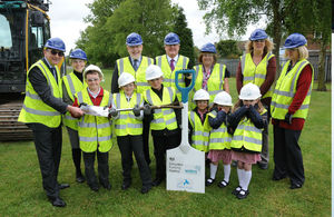 First day of construction at Whitmore Primary School