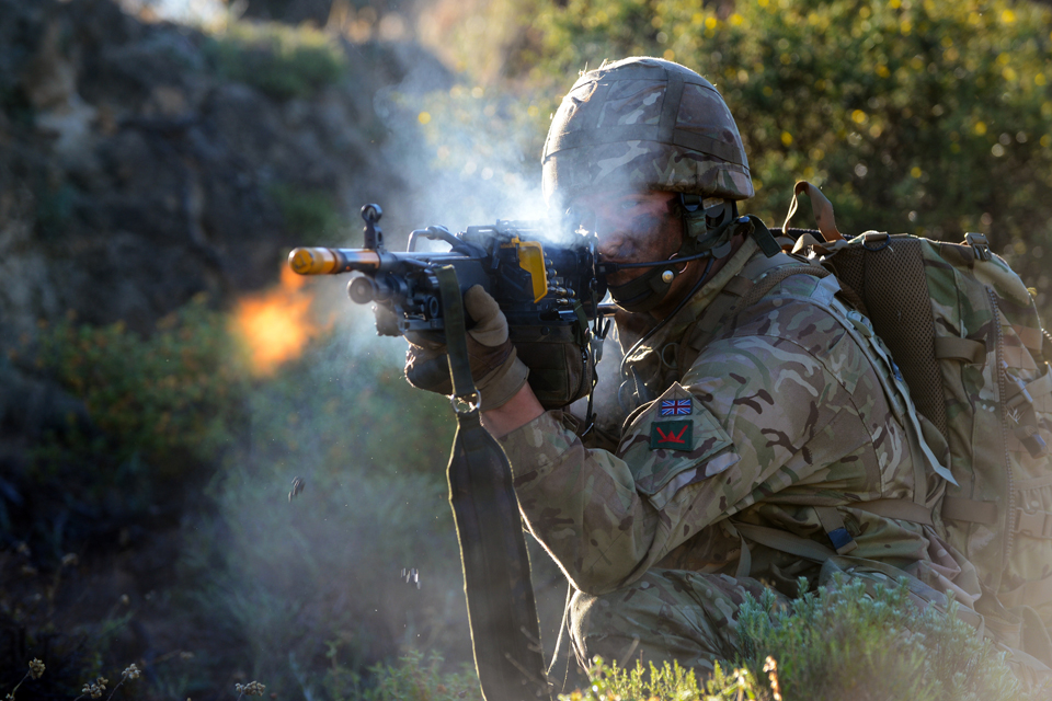 A soldier trains in Cyprus