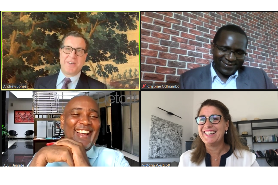 Screenshot of the virtual trade mission attendees from the Infrastructure Panel discussion