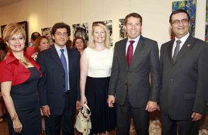British Ambassador Tom Fletcher at art exhibition in Saifi Village