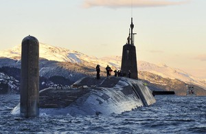 Nuclear submarine HMS Vanguard [Picture: Crown copyright]