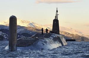 Nuclear submarine HMS Vanguard [Picture: Crown copyright]