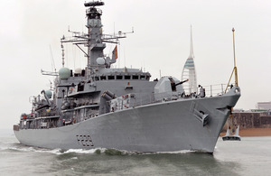 Type 23 frigate HMS Lancaster deploys from Portsmouth [Picture: Leading Airman (Photographer) Gary Weatherston, Crown copyright]