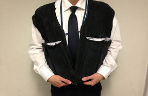 The specially adapted waistcoat used by the smugglers.