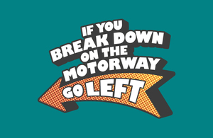 Highways England 'go left' campaign logo