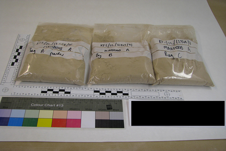 The drugs had a street value of £86,850