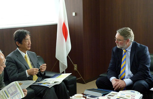 Professor Douglas Kell, Chief Executive Officer of the Biotechnology and Biological Sciences Research Council (BBSRC) visited Japan