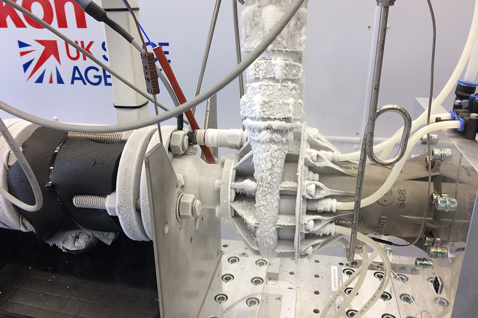 Cryogenic testing of additive manufactured propellant pump.