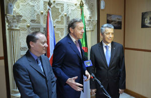 Lord Risby, HMA Martyn Roper and Algerian Minister of Education Baba Ahmed